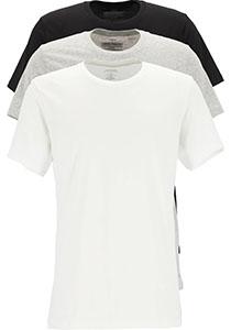 Calvin Klein Cotton Classics crew neck T-shirt (3-pack), heren T-shirts O-hals, zwart, wit en grijs