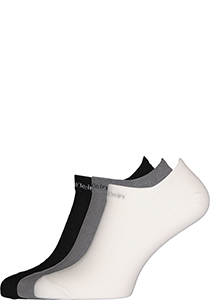 Calvin Klein herensokken Owen (3-pack), onzichtbare vochtregulerende sokken, grijs, wit en zwart