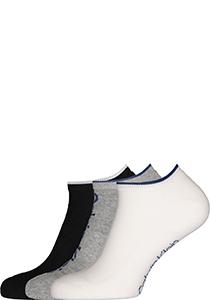 Calvin Klein herensokken Grant (3-pack), onzichtbare lage sportsokken, zwart, wit en grijs