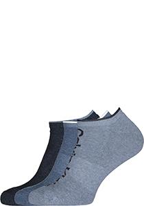 Calvin Klein herensokken Grant (3-pack), onzichtbare lage sportsokken, drie tinten jeansblauw