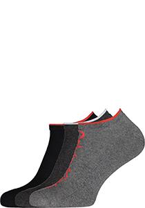 Calvin Klein herensokken Grant (3-pack), onzichtbare lage sportsokken, grijs, zwart en grijs met rood