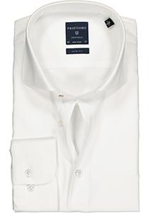 Profuomo Originale slim fit overhemd, mouwlengte 72 cm, twill, wit