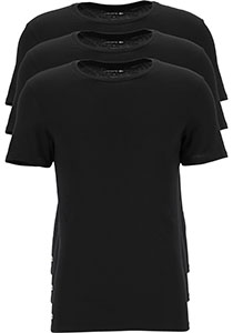 Lacoste T-shirts slim fit (3-pack), heren T-shirts O-hals, zwart