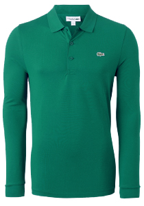 Lacoste Sport polo lange mouwen Regular Fit stretch, groen