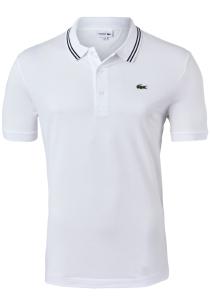 Lacoste Sport polo Slim Fit, super light knit, wit met zwart