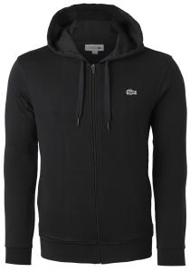 Lacoste heren hoodie sweatvest, met rits, zwart