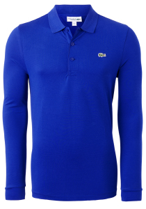 Lacoste Sport polo lange mouwen Regular Fit stretch, nachtblauw Cosmique