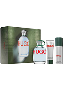 Heren cadeauset: HUGO BOSS Hugo Man, 125ml eau de toilette spray, 150ml deo spray, 50ml shower gel