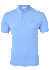 Lacoste Sport polo Slim Fit, ultra lightweight knit, lichtblauw