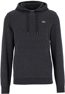 Lacoste heren hoodie sweatshirt, antraciet grijs melange