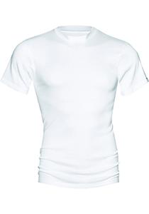 Mey Noblesse Olympia shirt (1-pack), heren T-shirt hoge O-hals fijnrib, wit