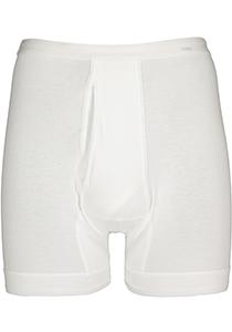 Mey Noblesse boxer briefs (1-pack), heren boxer normale lengte met gulp, wit
