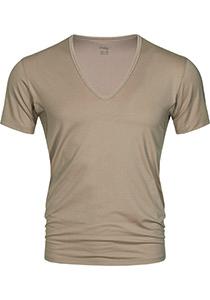 Mey Dry Cotton functional T-shirt (1-pack), heren T-shirt regular fit diepe V-hals, huidskleur