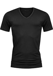 Mey Dry Cotton T-shirt (1-pack), heren T-shirt V-hals, zwart