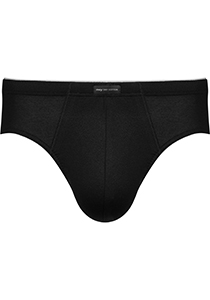Mey Dry Cotton high-leg briefs (1-pack), heren slip hoge beenuitsnijding, zwart