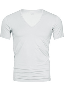 Mey Dry Cotton functional T-shirt (1-pack), heren T-shirt slim fit diepe V-hals, wit