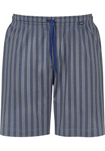 Mey pyjamabroek kort, Cranbourne, blauw met grijs gestreept