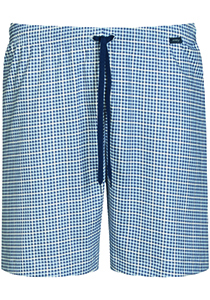Mey pyjamabroek kort, Redesdale, blauw geruit