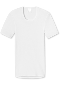 SCHIESSER Original Classics T-shirt (1-pack), Doppelribb met O-hals, wit