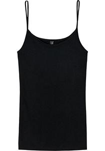 SCHIESSER Luxury dames spaghetti top (1-pack), zwart