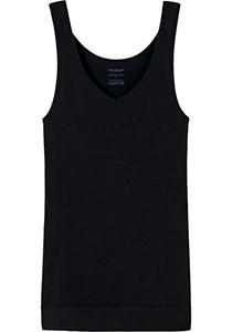 SCHIESSER Seamless Light dames tank top, naadloos hemd, zwart