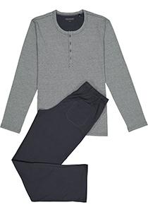 Schiesser heren pyjama, grijs