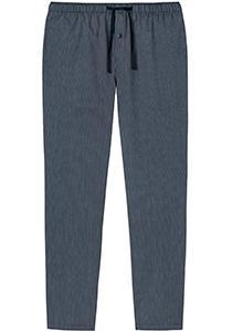 SCHIESSER Mix+Relax lounge broek, lange pijpen, dun niet elastisch, blauw fijn gestreept