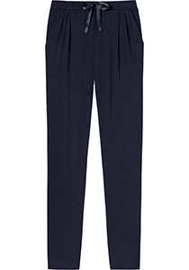 SCHIESSER dames Mix+Relax lounge broek, lange pijpen, dun, donkerblauw
