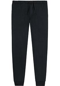 SCHIESSER Mix+Relax lounge broek, lange pijpen met boord, dun, zwart