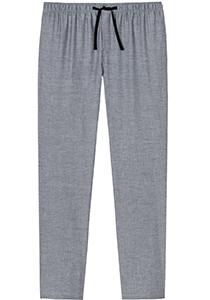 SCHIESSER Mix+Relax lounge broek, lange pijpen, dun niet elastisch, zwart met wit visgraat dessin