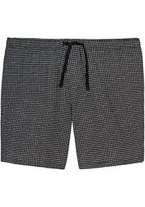 SCHIESSER Mix+Relax lounge broek, korte pijpen, dun, zwart geruit