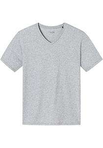 SCHIESSER Mix+Relax T-shirt, korte mouw V-hals, lichtgrijs melange