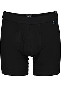 Schiesser Long Life Cotton boxershort (lang met gulp), zwart