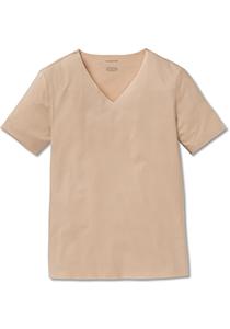 SCHIESSER Laser Cut T-shirt (1-pack), naadloos met diepe V-hals, huidskleur