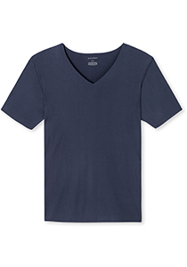 SCHIESSER Laser Cut T-shirt (1-pack), naadloos met diepe V-hals, donkerblauw