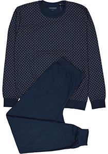 Schiesser heren pyjama,blauw dessin