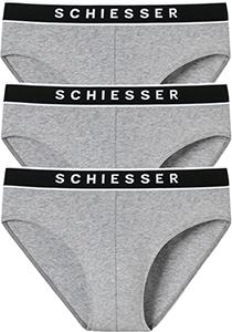 SCHIESSER 95/5 rio slips (3-pack), grijs