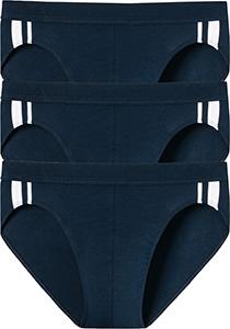 SCHIESSER 95/5 Stretch rio slips (3-pack), donkerblauw