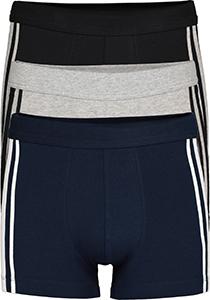 SCHIESSER 95/5 Stretch shorts (3-pack), zwart, blauw en grijs