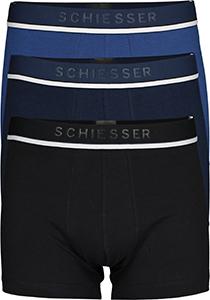 SCHIESSER 95/5 shorts (3-pack), zwart, blauw en donkerblauw