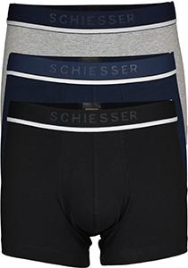 SCHIESSER 95/5 shorts (3-pack), zwart, blauw en grijs