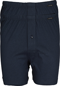 SCHIESSER Cotton Essentials boxershorts wijd (2-pack), tricot, donkerblauw