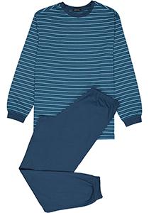 Schiesser heren pyjama,blauw gestreept