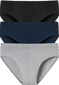 SCHIESSER 95/5 Essentials supermini slips (3-pack), zwart, blauw en grijs