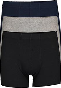 SCHIESSER 95/5 Essentials shorts (3-pack), zwart, blauw en grijs