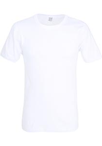 Ceceba heren T-shirt fijnrib regular fit (1-pack), O-hals, wit