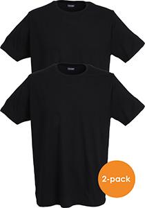 Ceceba heren T-shirts regular fit (2-pack), O-hals, zwart