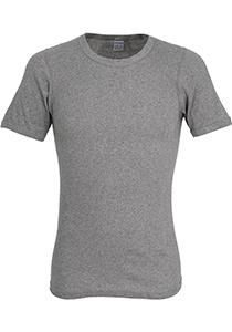 Ceceba heren T-shirt dubbelrib regular fit (1-pack), O-hals, grijs