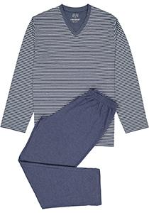 Ceceba heren pyjama, blauw met wit gestreept