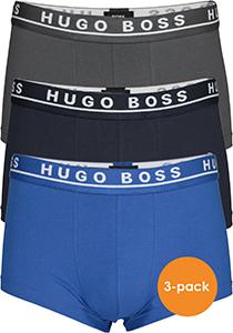 HUGO BOSS trunk (3-pack), heren boxers kort, kobalt, navy en antraciet